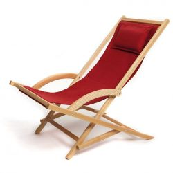 Rocking deck chair- Red
