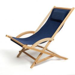 Rocking deck chair- Blue
