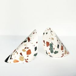 Bookend SOLID Terrazzo Set of 2