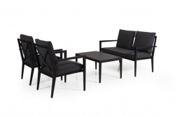 Outdoor-Lounge-Set Sorba | Schwarz