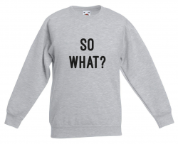 Kids Sweater So What | Grijs