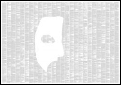 "Novel Text Poster ""Phantom of the Opera"""