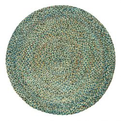 Round Jute Rug Spectrum | Brown/Turquoise