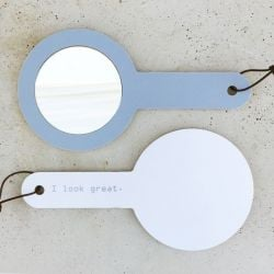 Sonja Mirror with Handle | I Look Great Grey