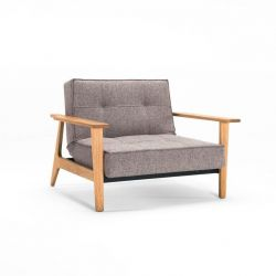 Splitback-Stuhl mit Armlehne | Mixed Dance Grau