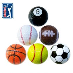 Set of 6 Sports Golf Balls