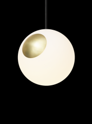 Pendant Lamp Bright Spot | Brass & Black Cord