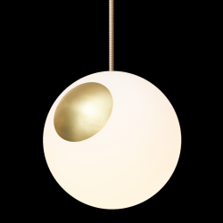 Hanglamp Bright Spot | Messing, Goud, Crema