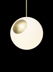 Pendant Lamp Bright Spot | Brass & Cream Cord