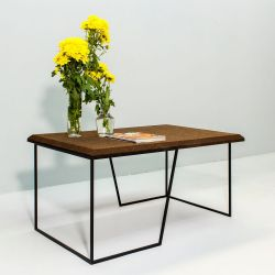 Center Table Grao | Dark Cork & Black Legs