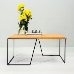 Center Table Grao | Light Cork & Black Legs