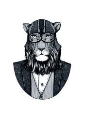 Gerahmte Leinwand | Eleganter Löwe 1