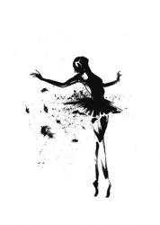 Gerahmte Leinwand | Schwarze Tänzerin