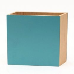 Shadow Square Vase Blue