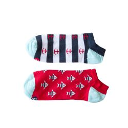 Unisex-Socken 2er-Set | Low Pack Rot