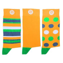 Herrensocken 3er-Set | Gelbes Dreierpack