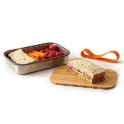 Stainless Steel Sandwich Box | Orange