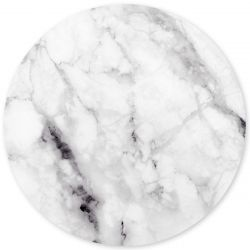 Magnetic Sticker Marble Print | White