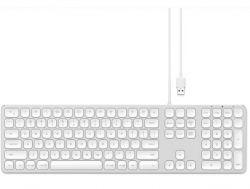 Aluminium Kabelgebundene Tastatur für Mac | Qwerty | Silber