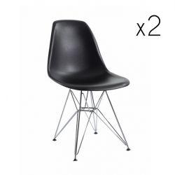 Chaise Sono Set de 2 | Noir