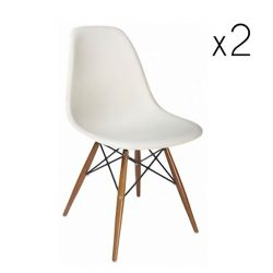 Chaise Manda Set de 2 | Blanc