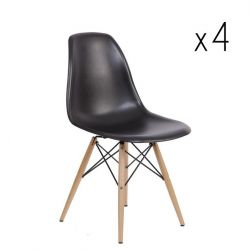 Manda Chair Set of 4 | Black