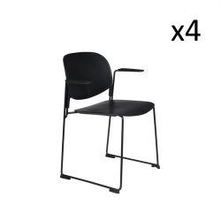 Fauteuil Stacks - Set de 4 | Noir
