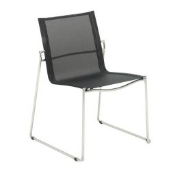 Asta Stacking Chair | Charcoal
