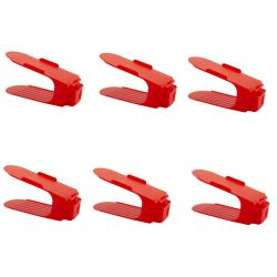 Shoe Rack Red | Set of 6