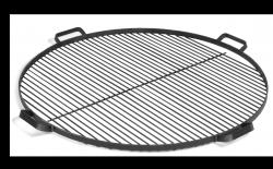 Rost mit Handgriffen für Feuerschale | Schwarzer Stahl