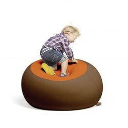 Stanley Beanbag | Brown & Orange