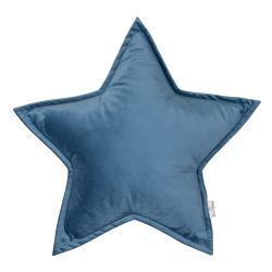 Kissen Little Star Velvet | Blau