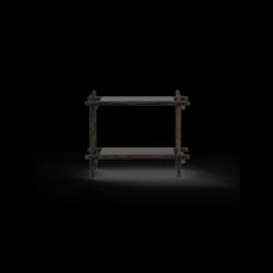 Stangensystem 1x2 Einheit | Schwarz