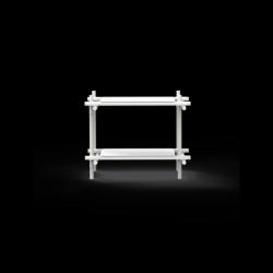 Stangensystem 1x2 Einheit | Weiß