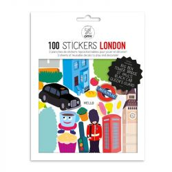 100 Reusable Stickers | London