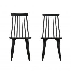 Set de 2 Sticks Chaises | Bois / Noir
