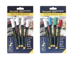 Set of 2 Chalk Markers 1-2 mm (4pcs) | White & Coloured