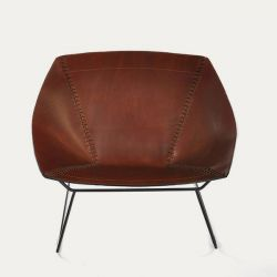 Chair Stitch | Cognac & Black Frame