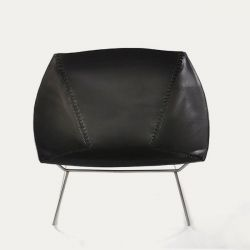 Chair Stitch | Black & Stainless Steel