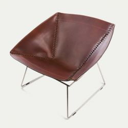 Chair Stitch | Cognac & Stainless Steel