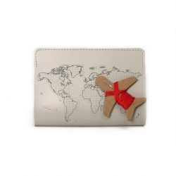 Passport Cover Stitch | Light Grey