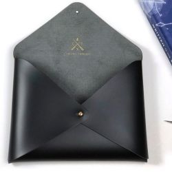 Stitch Envelope Pouch Star Sign | Black