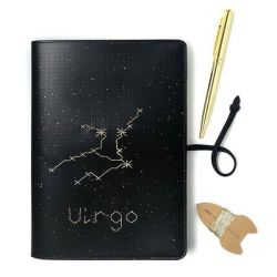 Stitch Notebook Star Sign | Schwarz