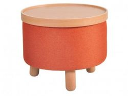 Stool Molde with Removable Tray Large | Orange