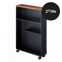 2nd Life | Semi-Closed Storage Cart Tower | Black