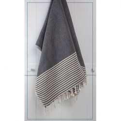 Towel Stripy | Black