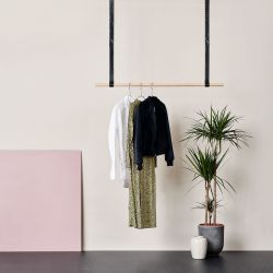 Clothes Rack Leatherish | 100 cm