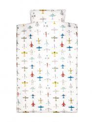 Bettdeckenbezug 120 x 150 cm | Flugzeuge