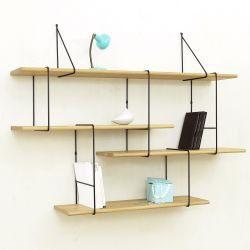 Shelving System LINK Set 1 | Oak Black