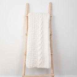 Plaid Frida 150 x 163 cm | Laine d'Alpaga Blanche